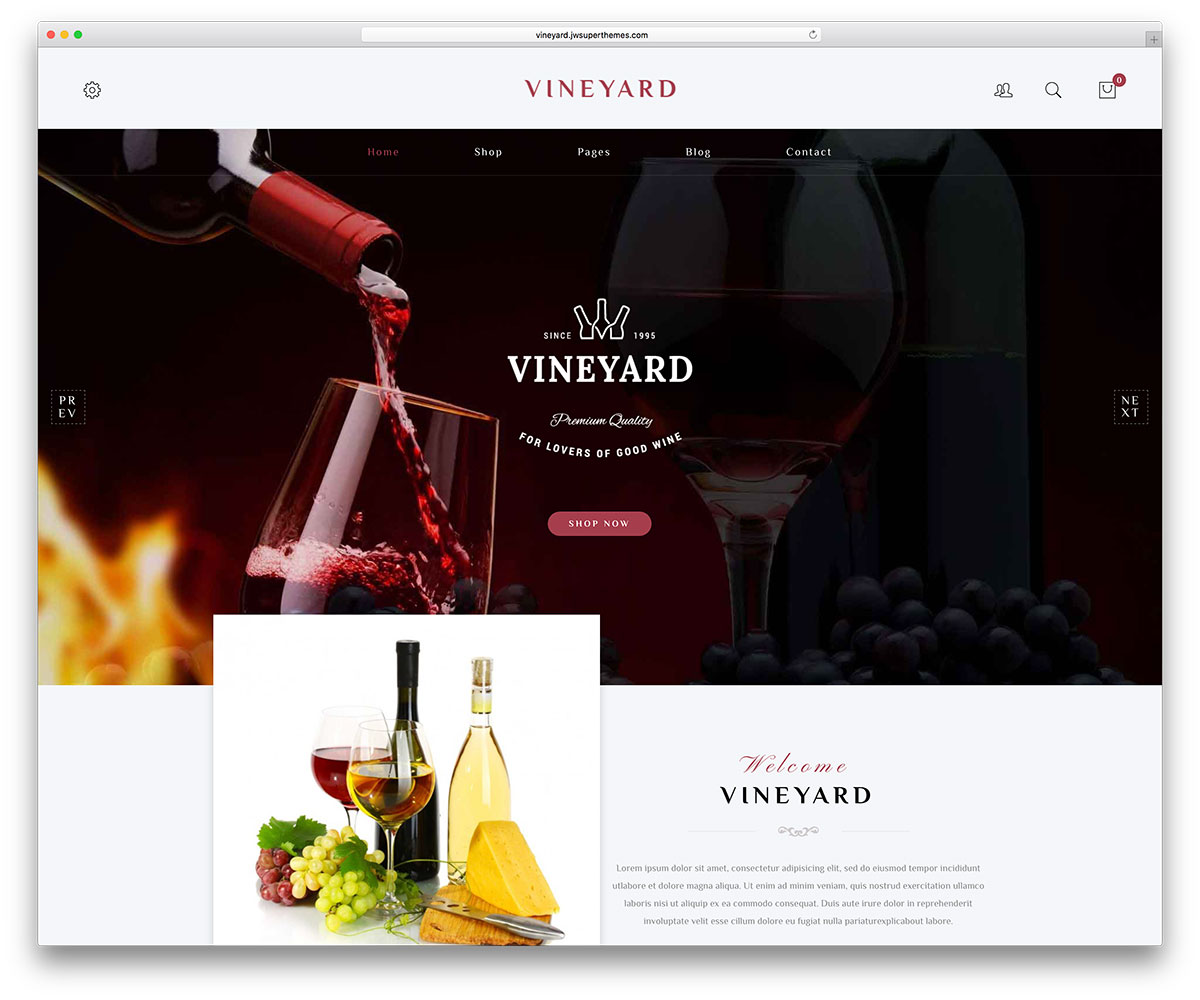 20 best wordpress themes for pubs wineries and brewery sites 2018 vineyard is a wordpress theme oriented to wine selling wines culture and fandom yet it currently serves as a multipurpose theme for lifestyle topics too pronofoot35fo Gallery