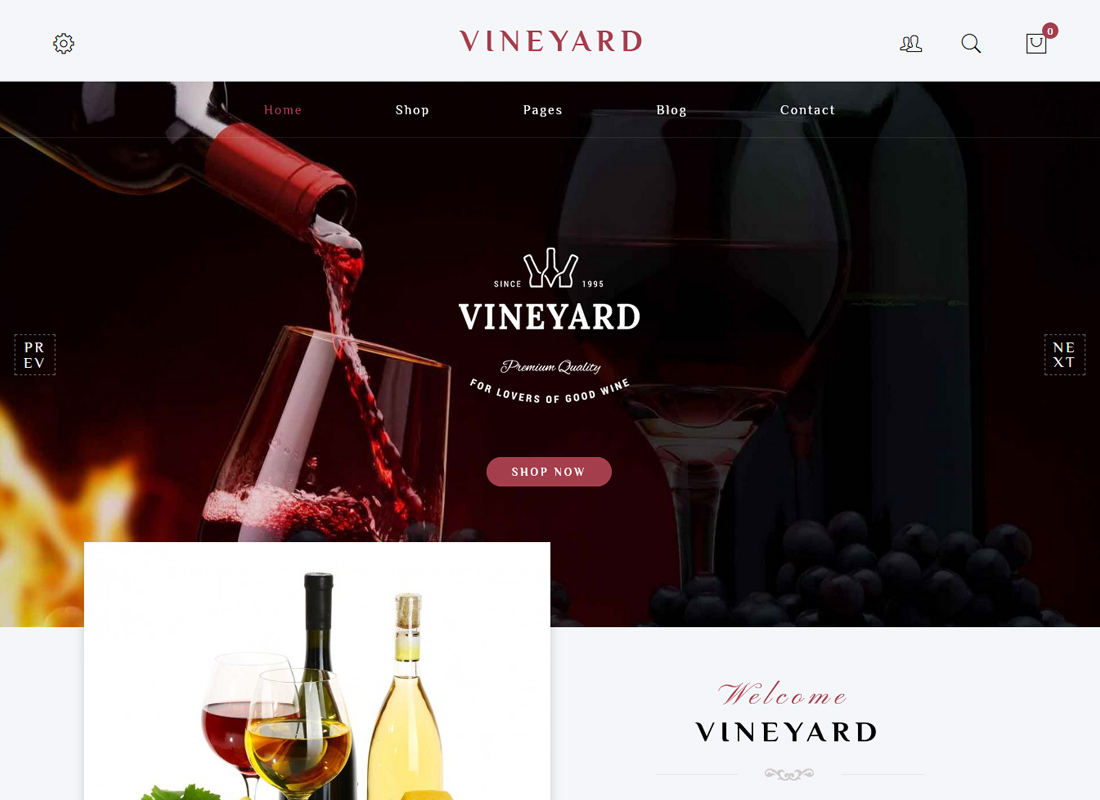 Vineyard - Wine Store Responsive WooCommerce WordPress Theme