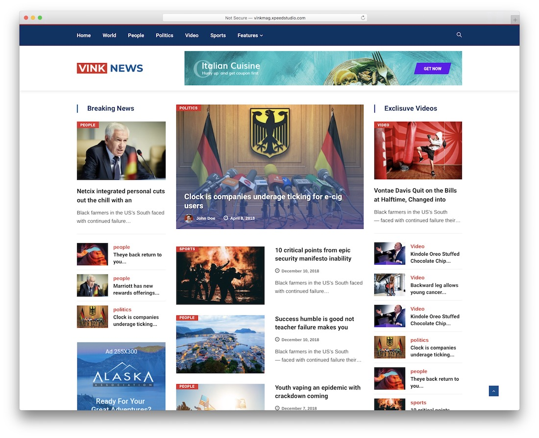 vinkmag wordpress newspaper theme