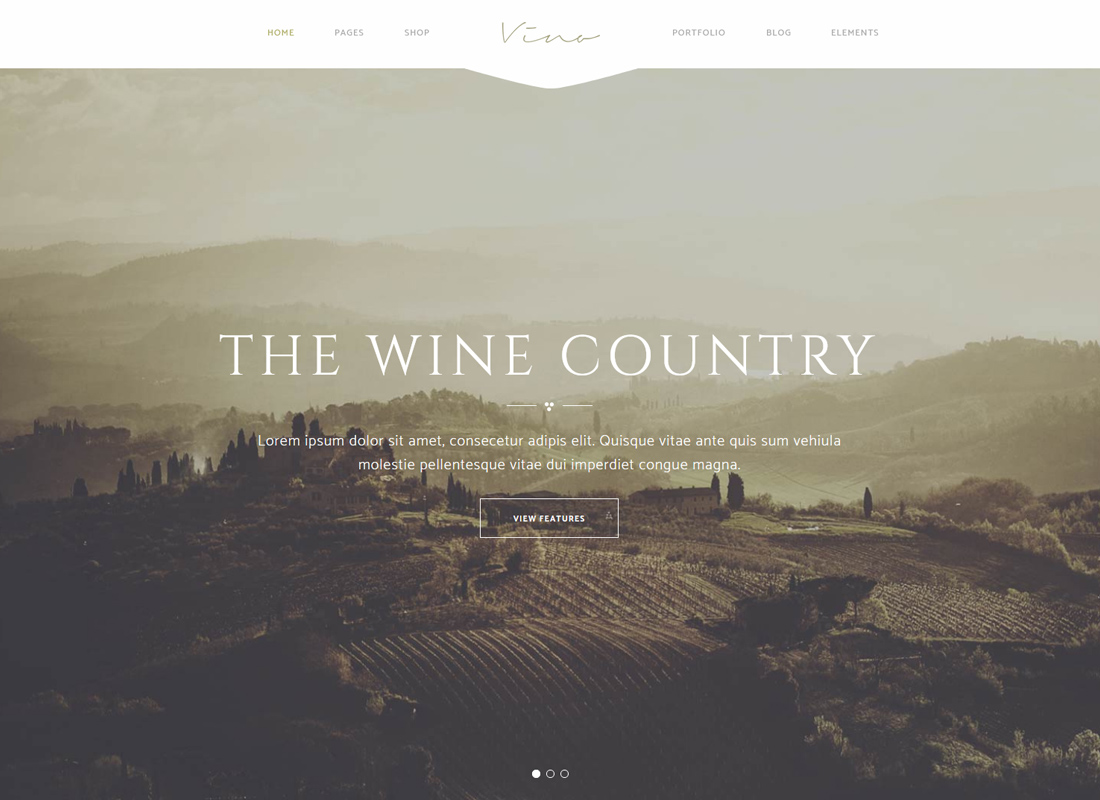 Vino - A Refined Winery, Wine Bar, and Vineyard Theme