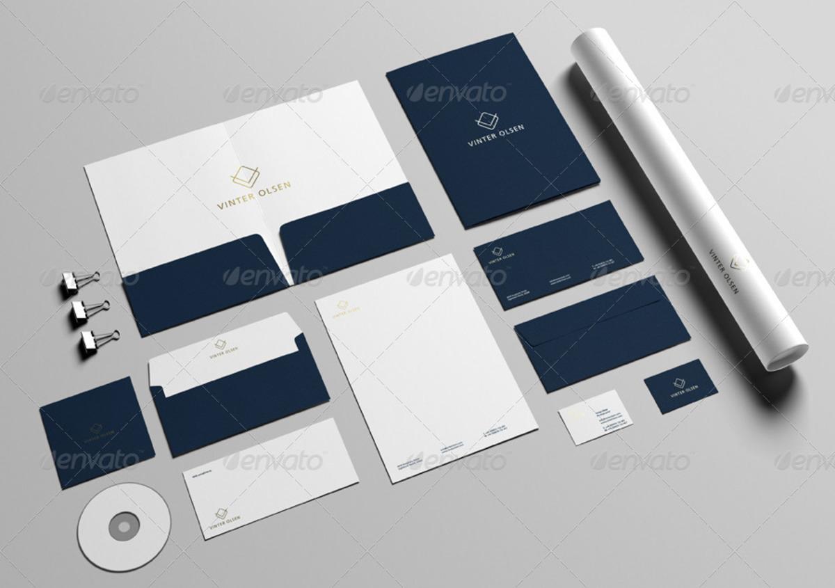 Vinter Olsen Stationery Branding Mockup
