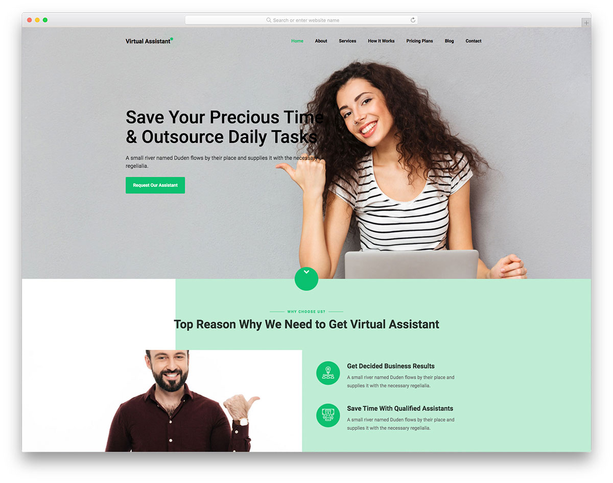 VirtualAssistant Free Template