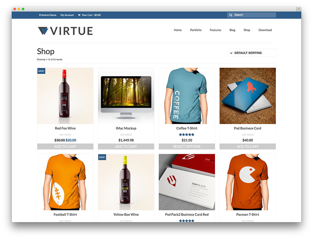 virtue eStore template