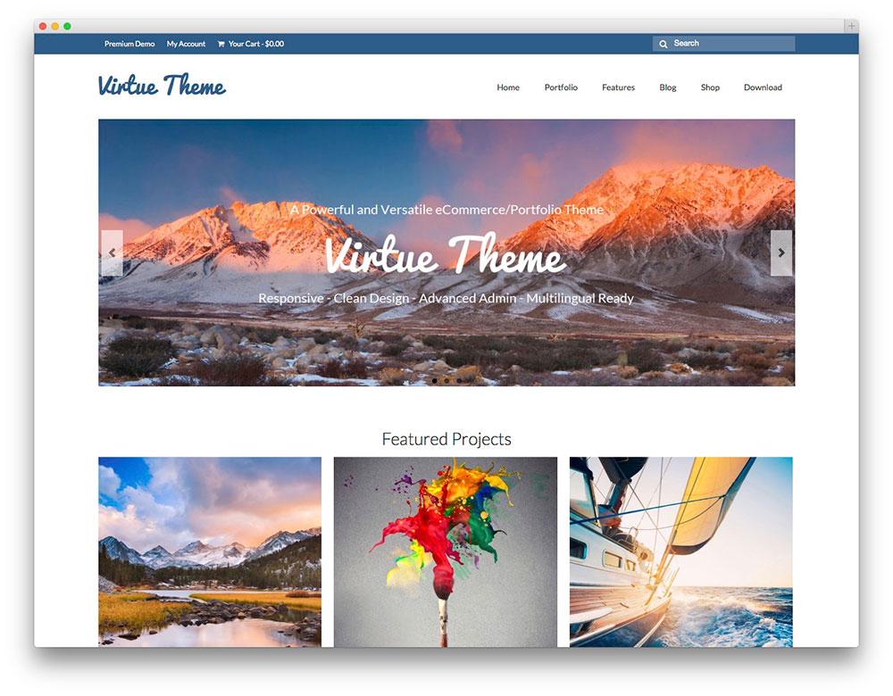 virtue - free bootstrap business theme