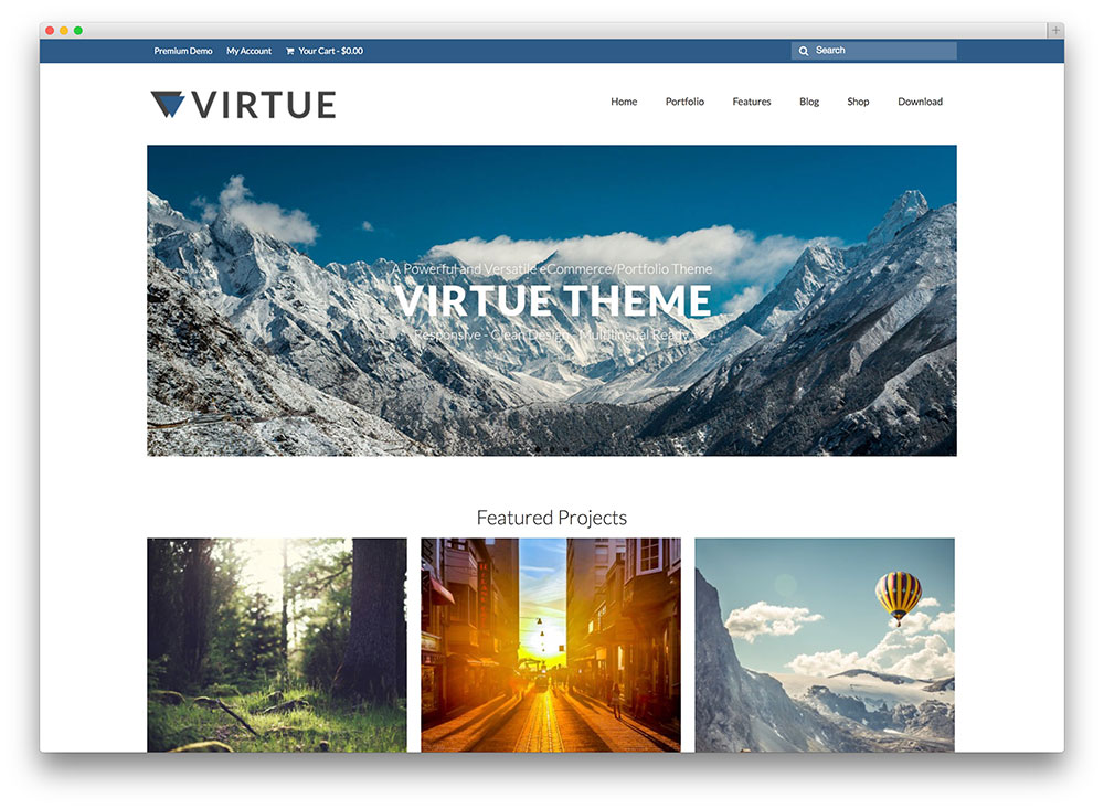 virtue clean theme