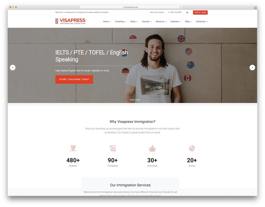 visapress consulting website template