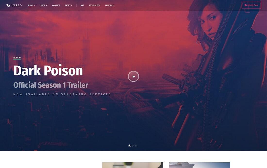 viseo news video website design