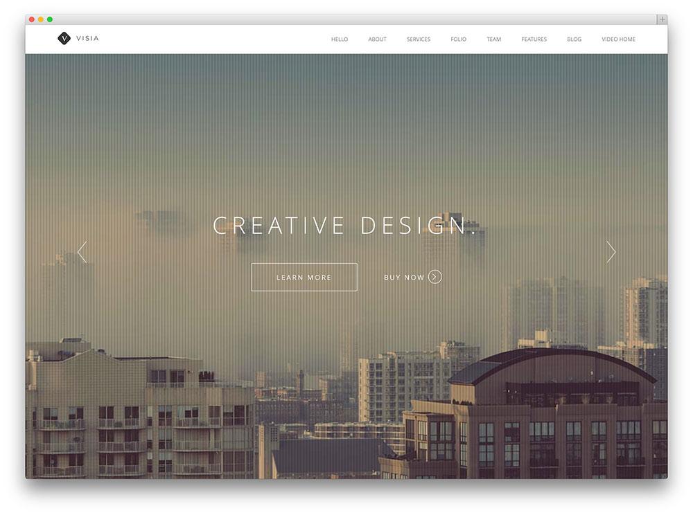 visia one page parallax portfolio