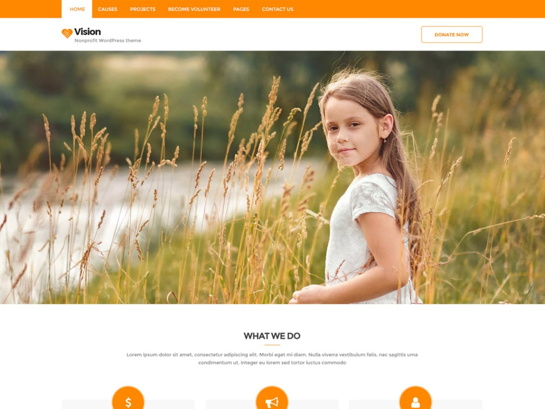 free charity wordpress themes