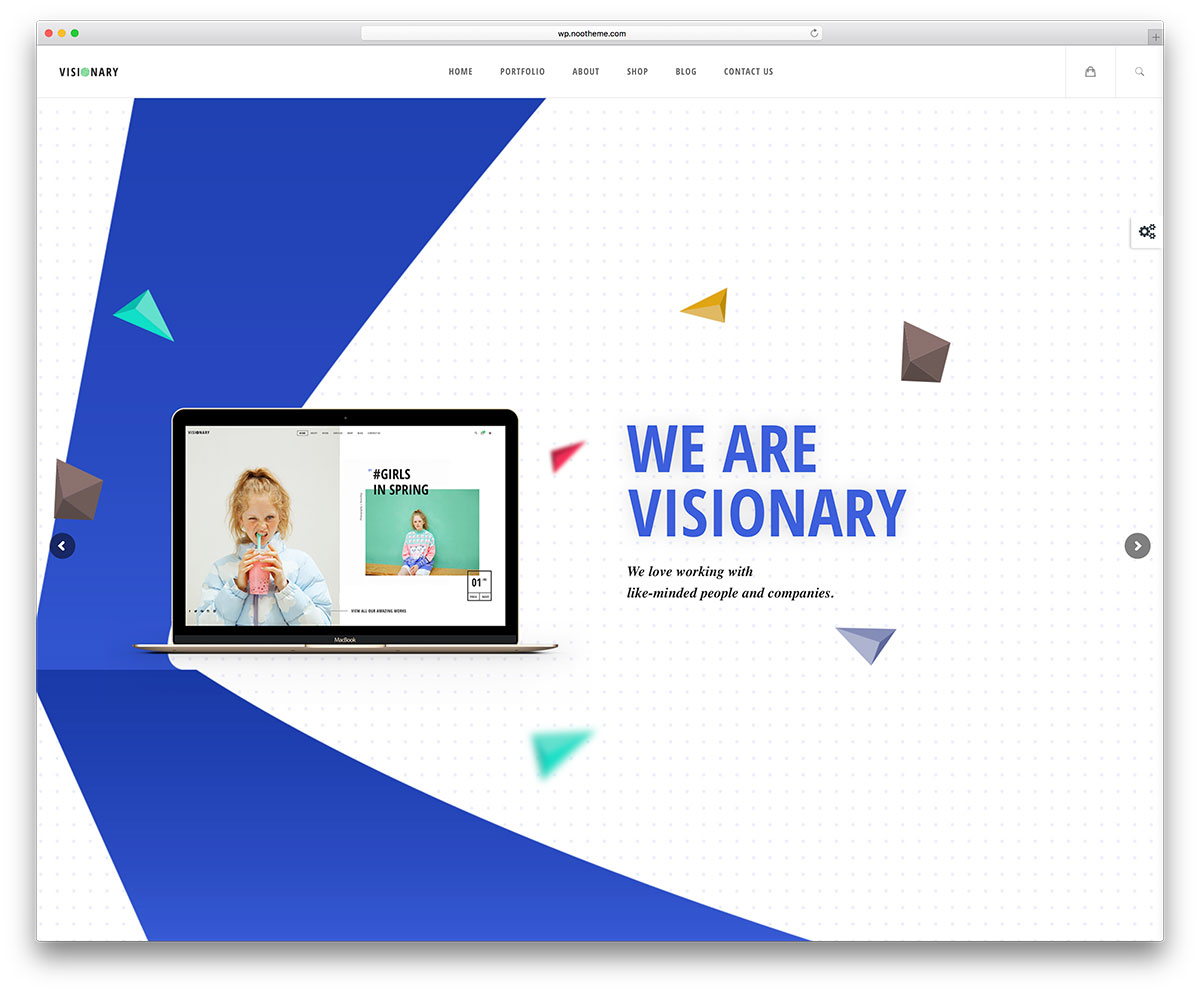 50 best wordpress corporate business themes of 2018 colorlib visionary simple business wordpress theme friedricerecipe Image collections