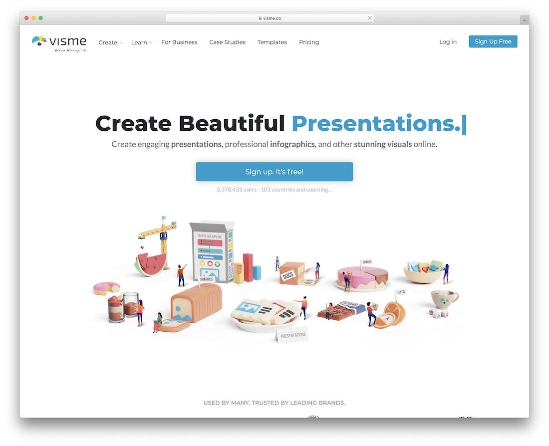 visme tool for presentations