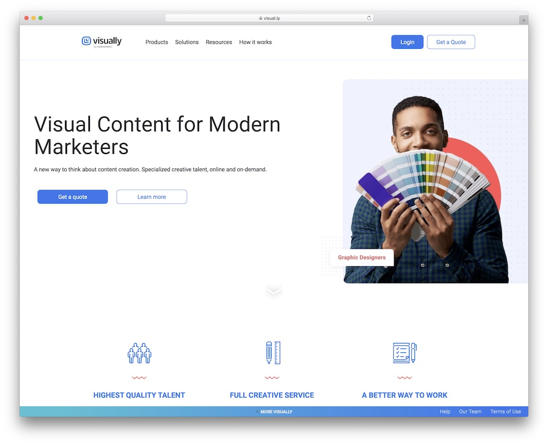 visually tool for graphic designers and marketers