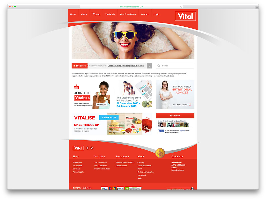 vital-health-advice-woocommerce-store