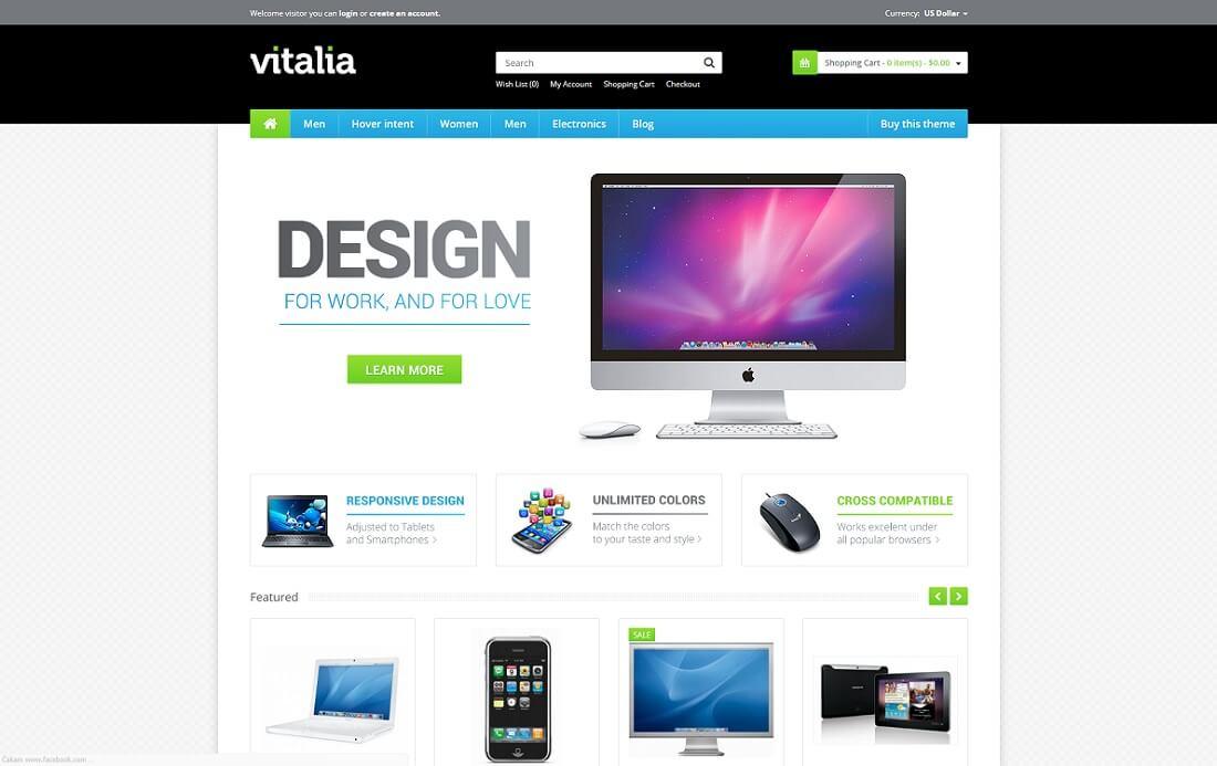 vitalia opencart theme