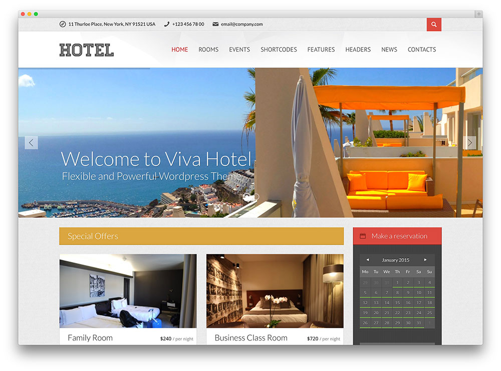 viva hotel WordPress theme