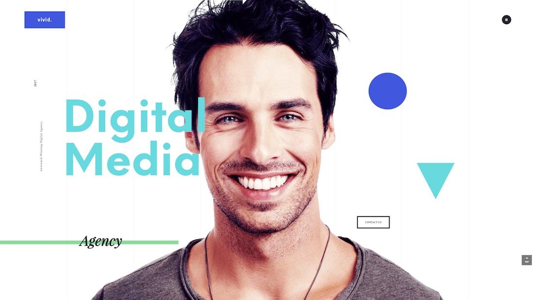 vivid graphic design website template