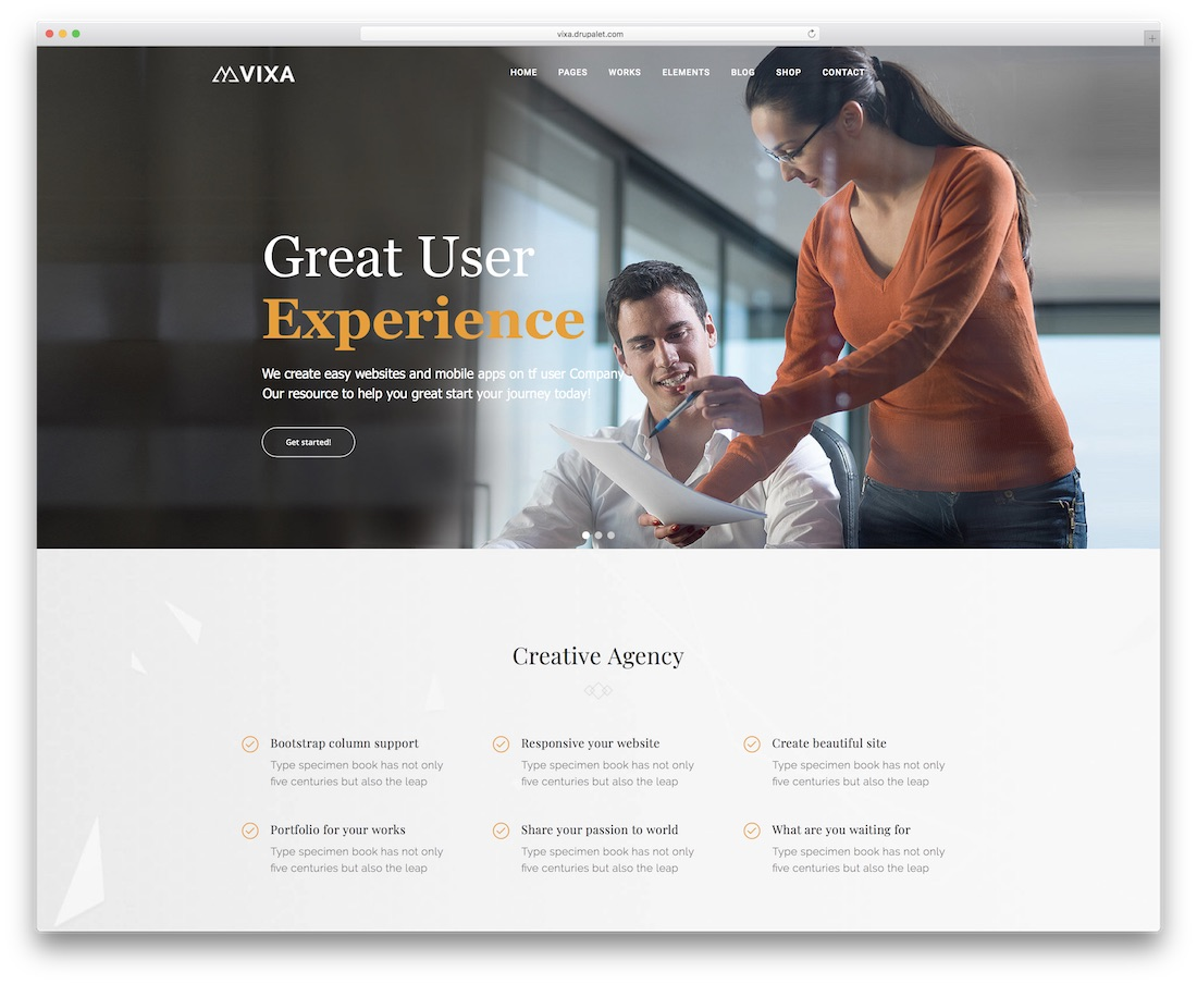 vixa drupal business template