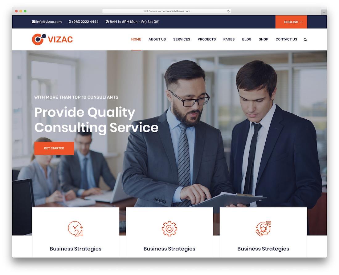 vizac insurance website template