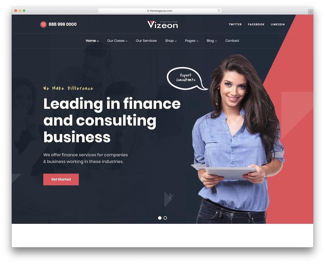vizeon wordpress insurance theme