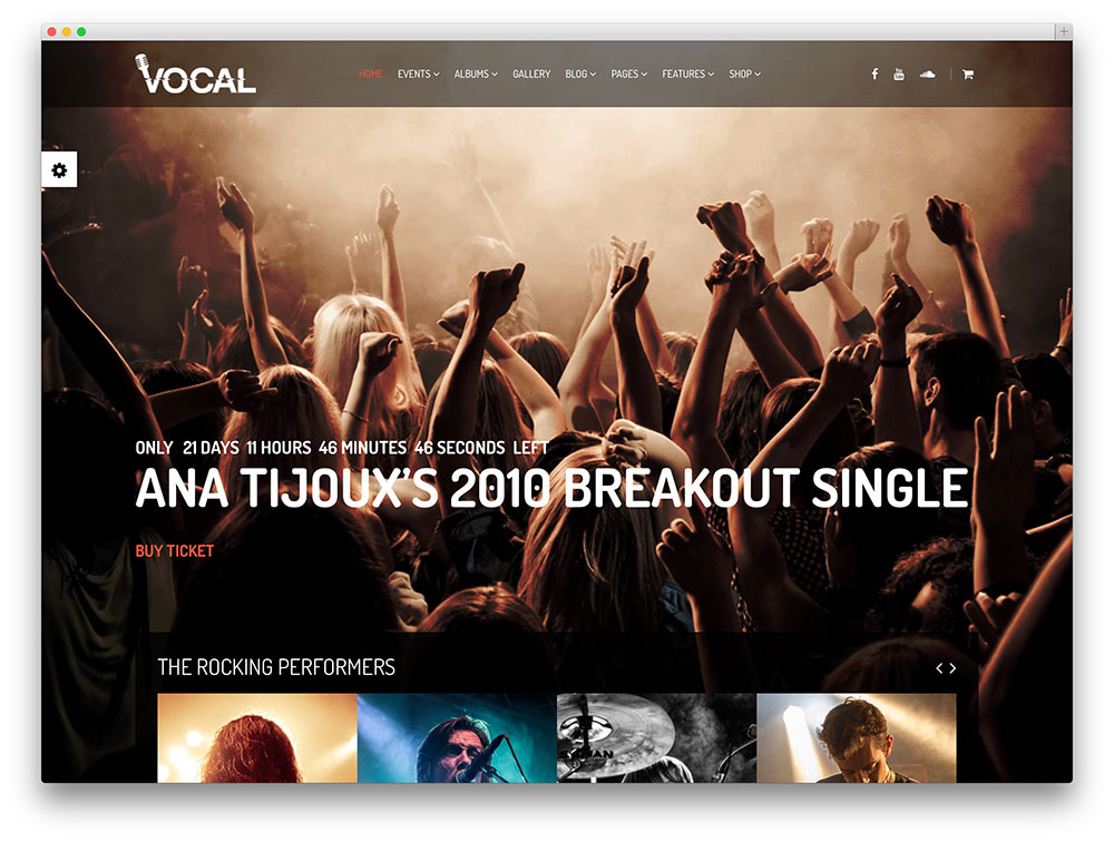 vocal classic WordPress concer theme