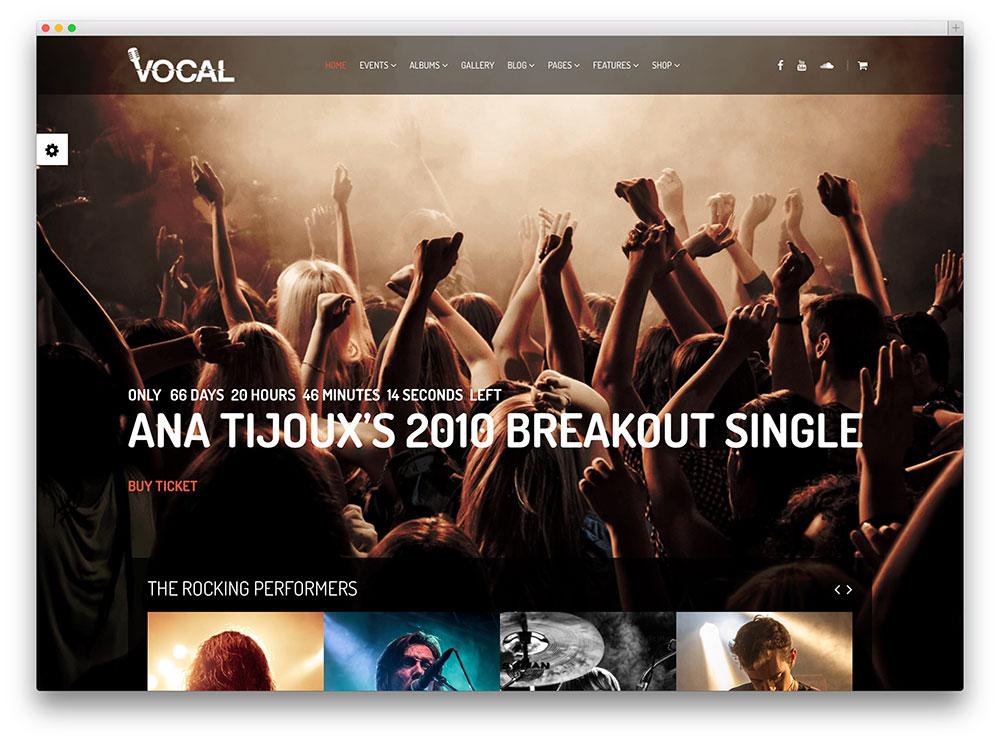vocal explosive nightclub wordpress template