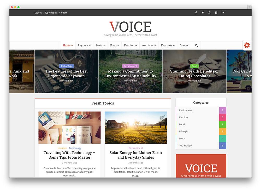 voice - bright magazine theme