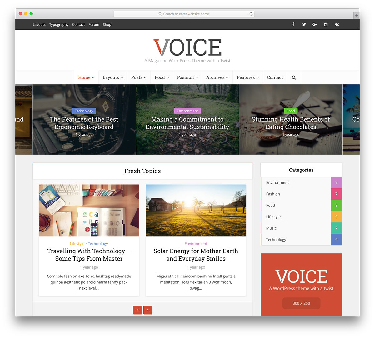 22 content focused free magazine website templates.