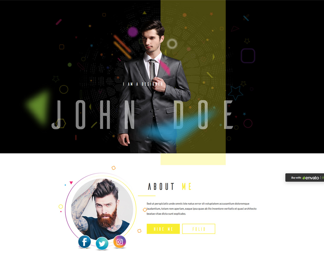 void-bootstrap-personal-website-templates
