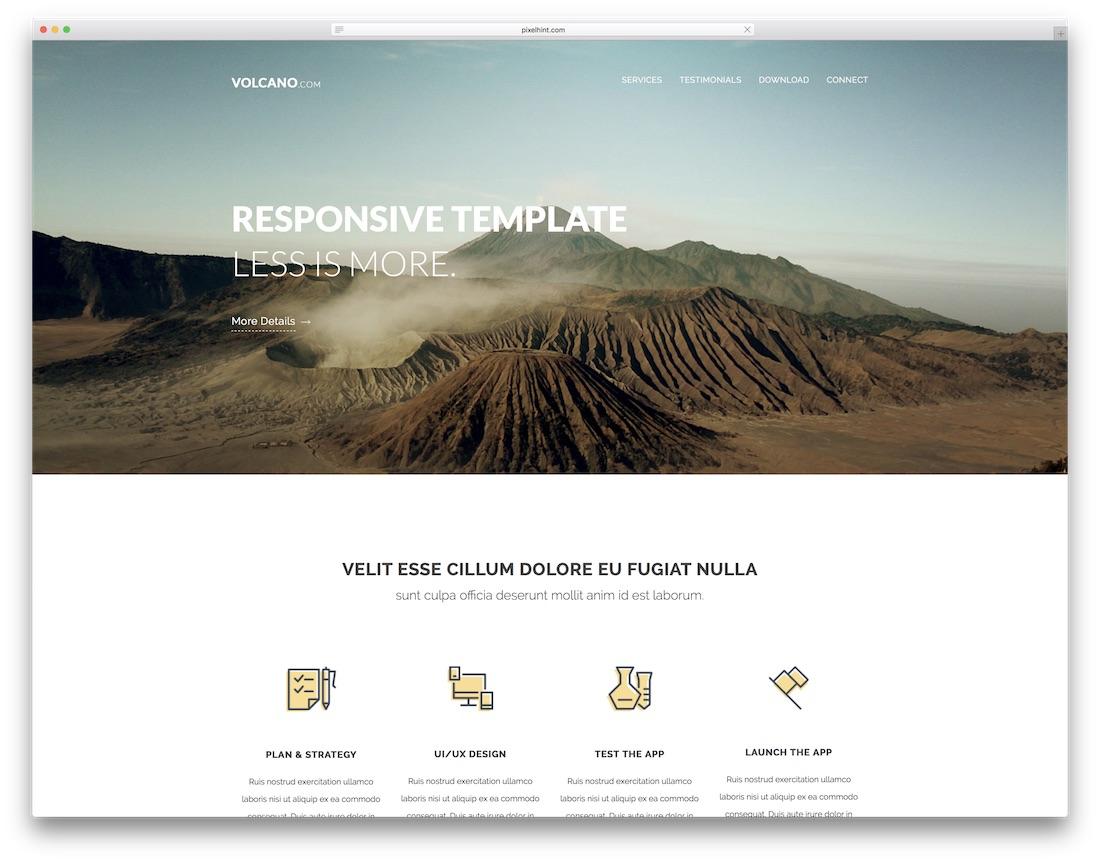 volcano website template