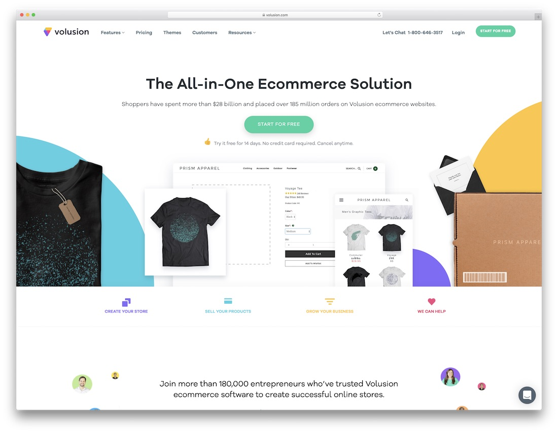 volusion website builder for online clothing store