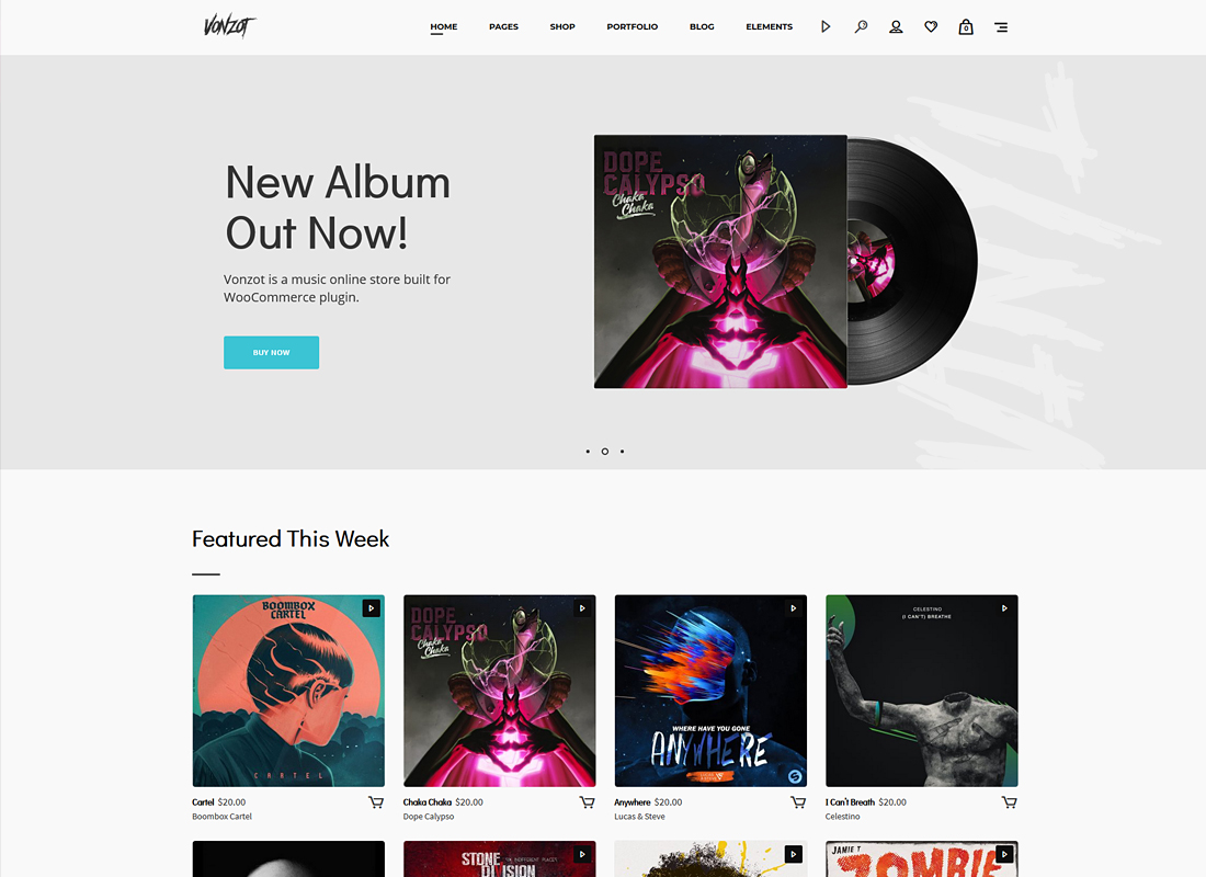 Vonzot   Music Oriented WooCommerce Theme