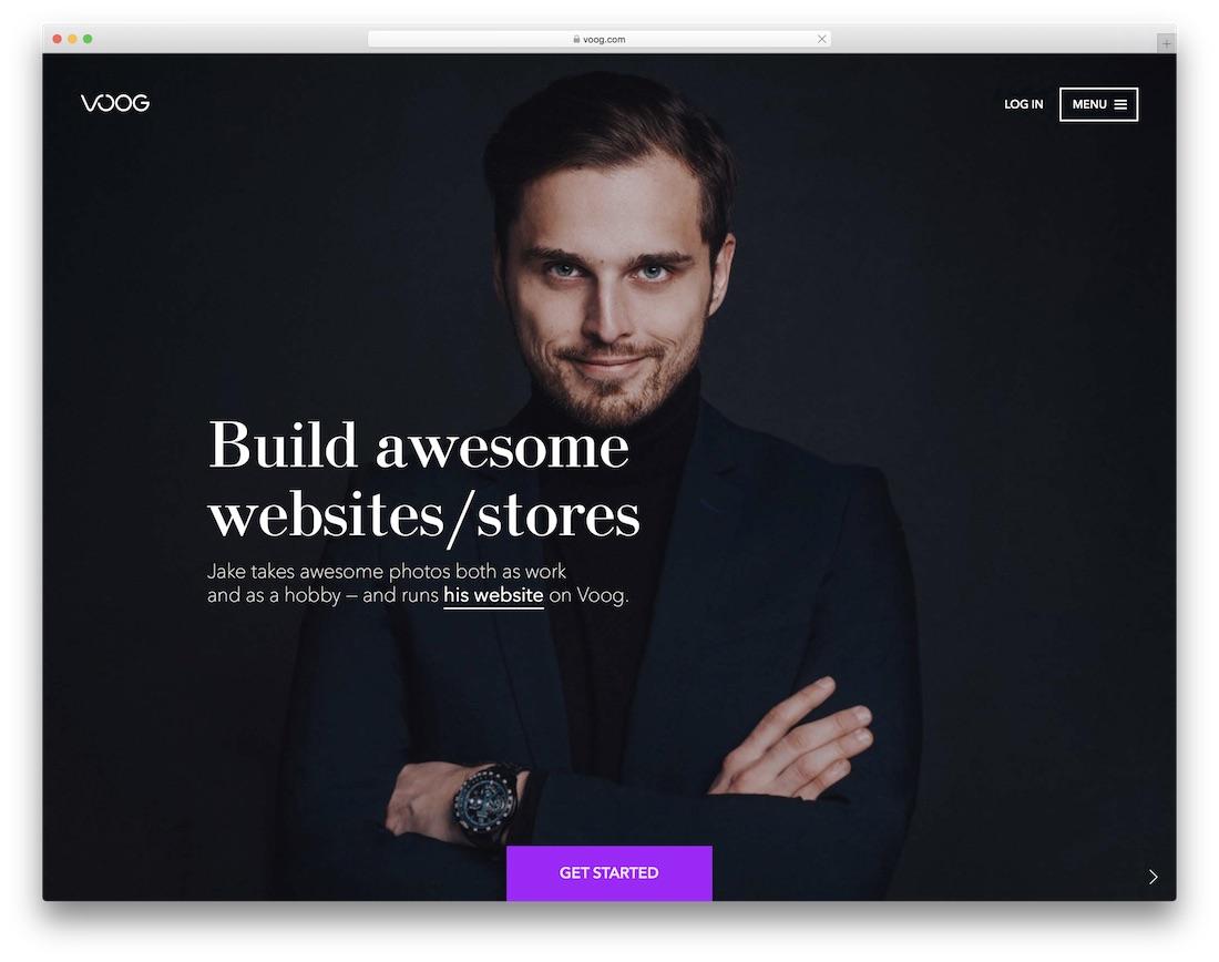 voog website builder for blogs
