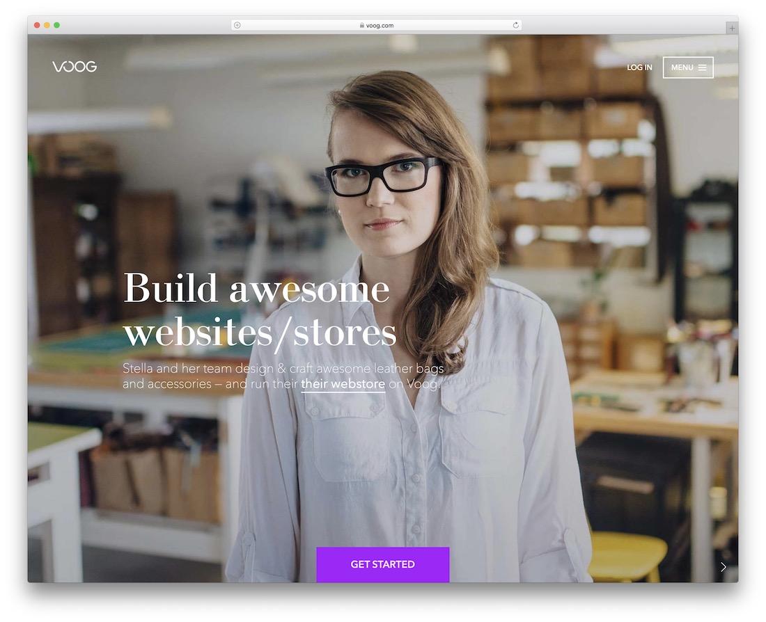 voog website builder for designers
