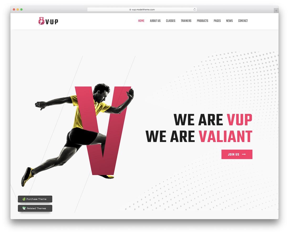 vup wordpress sports theme