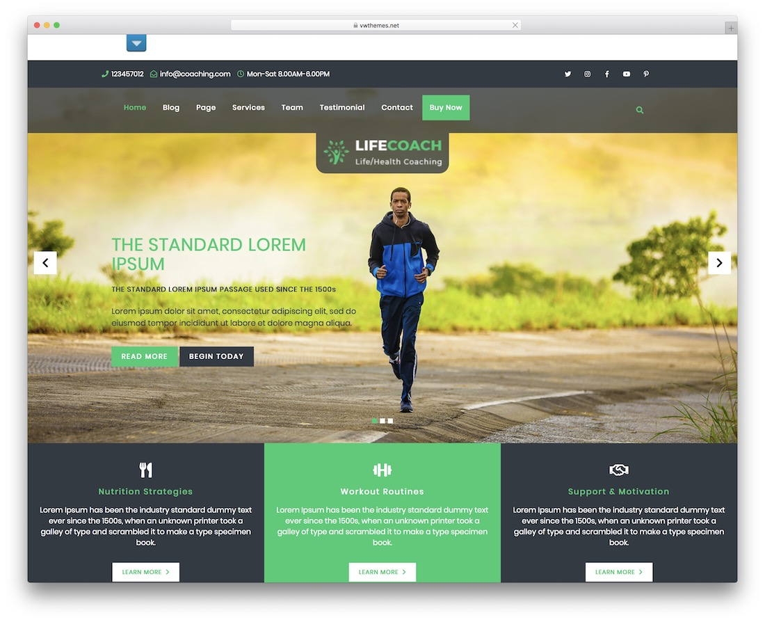 vw health coaching free wordpress theme