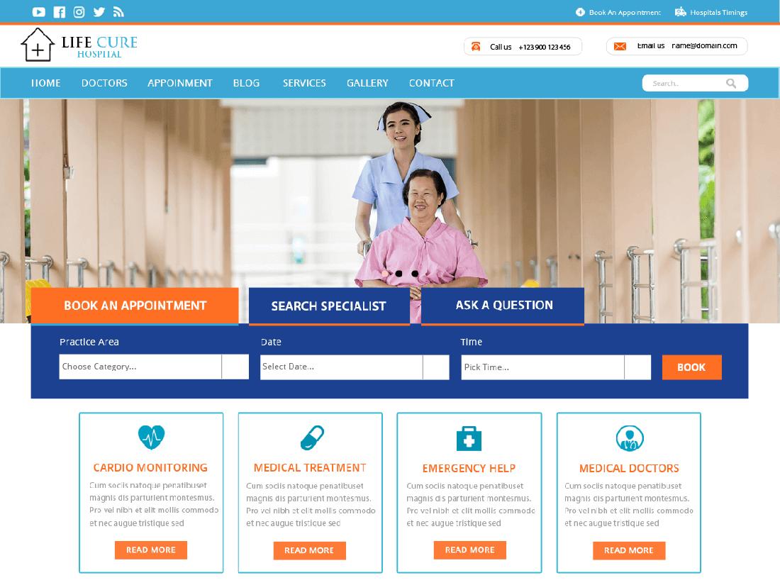 VW Hospital Lite Medical WordPress Theme