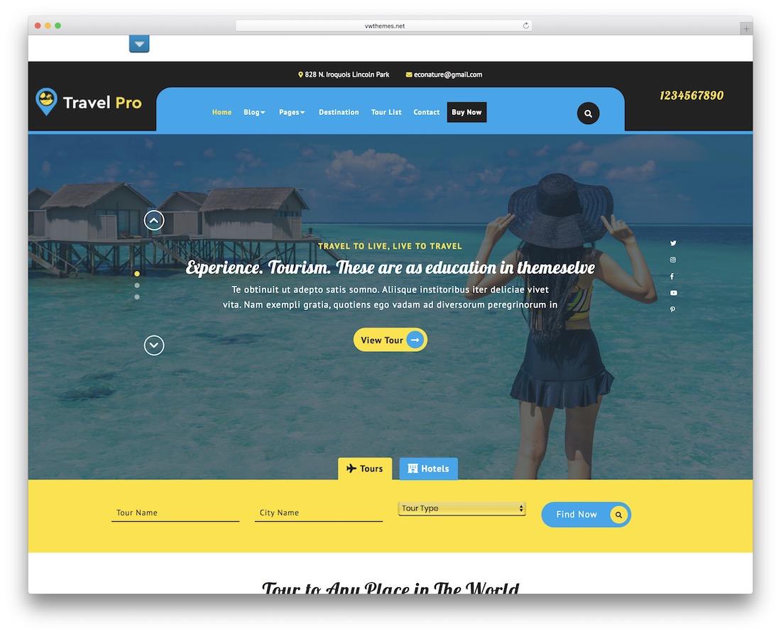 vw travel free wordpress theme