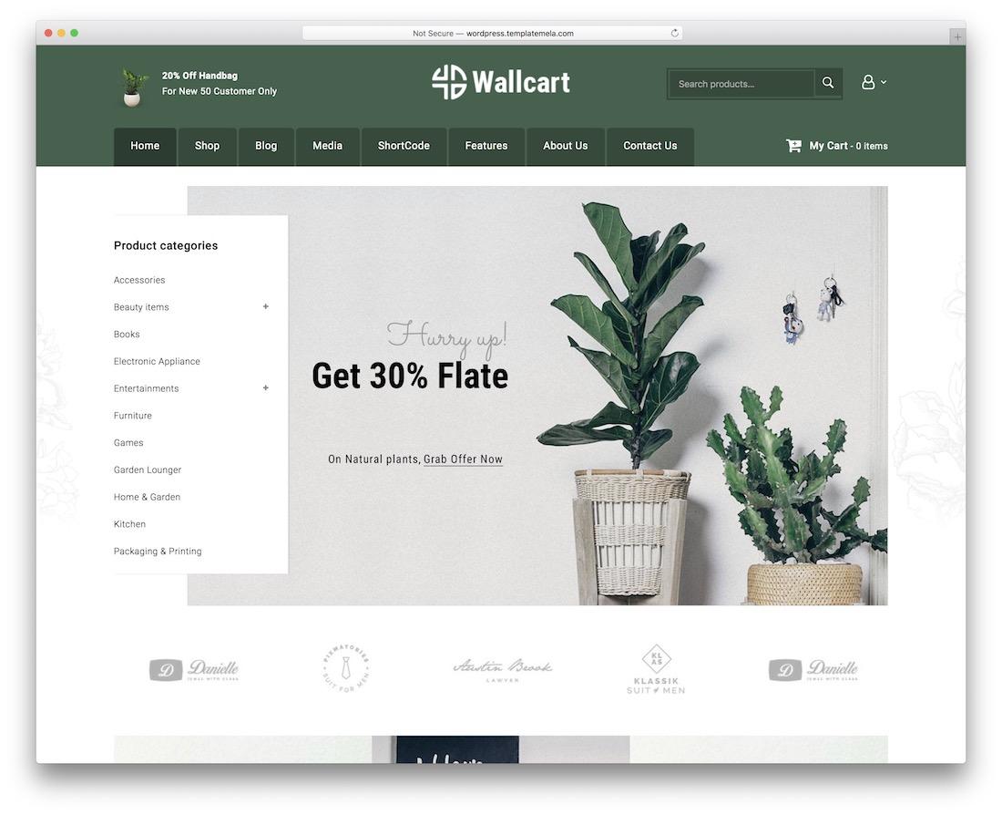 wallcart flower website template