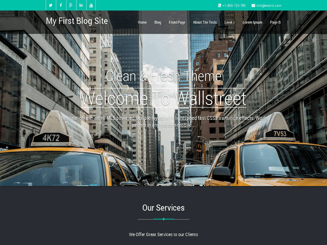 Wallstreet WordPress Theme for Law Websites