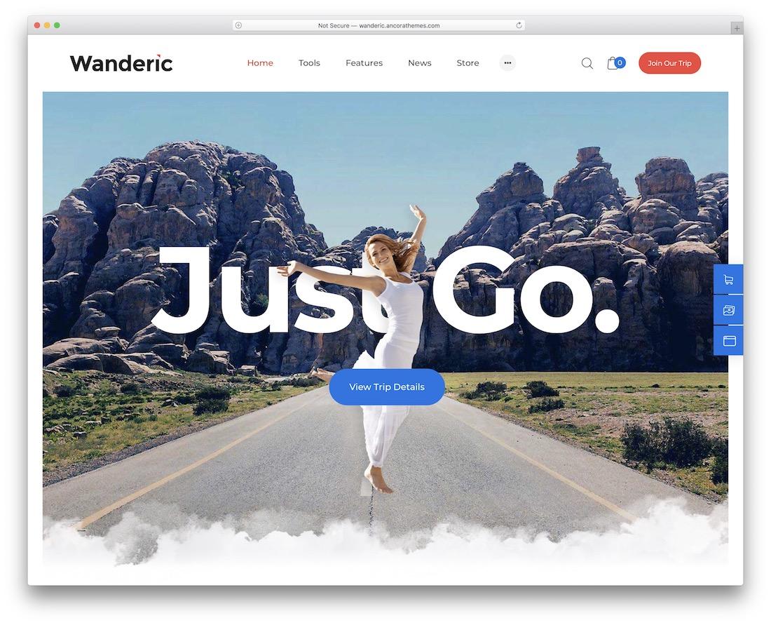 wanderic lifestyle wordpress theme