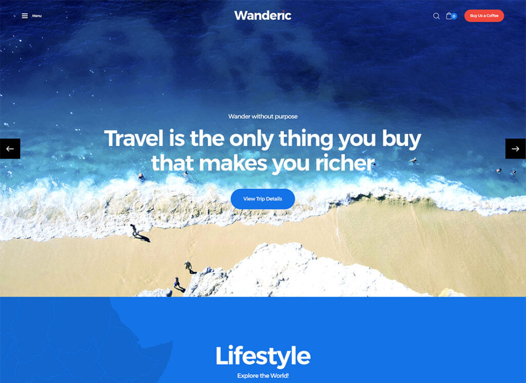 Wanderic | Travel Blog & Lifestyle WordPress Theme