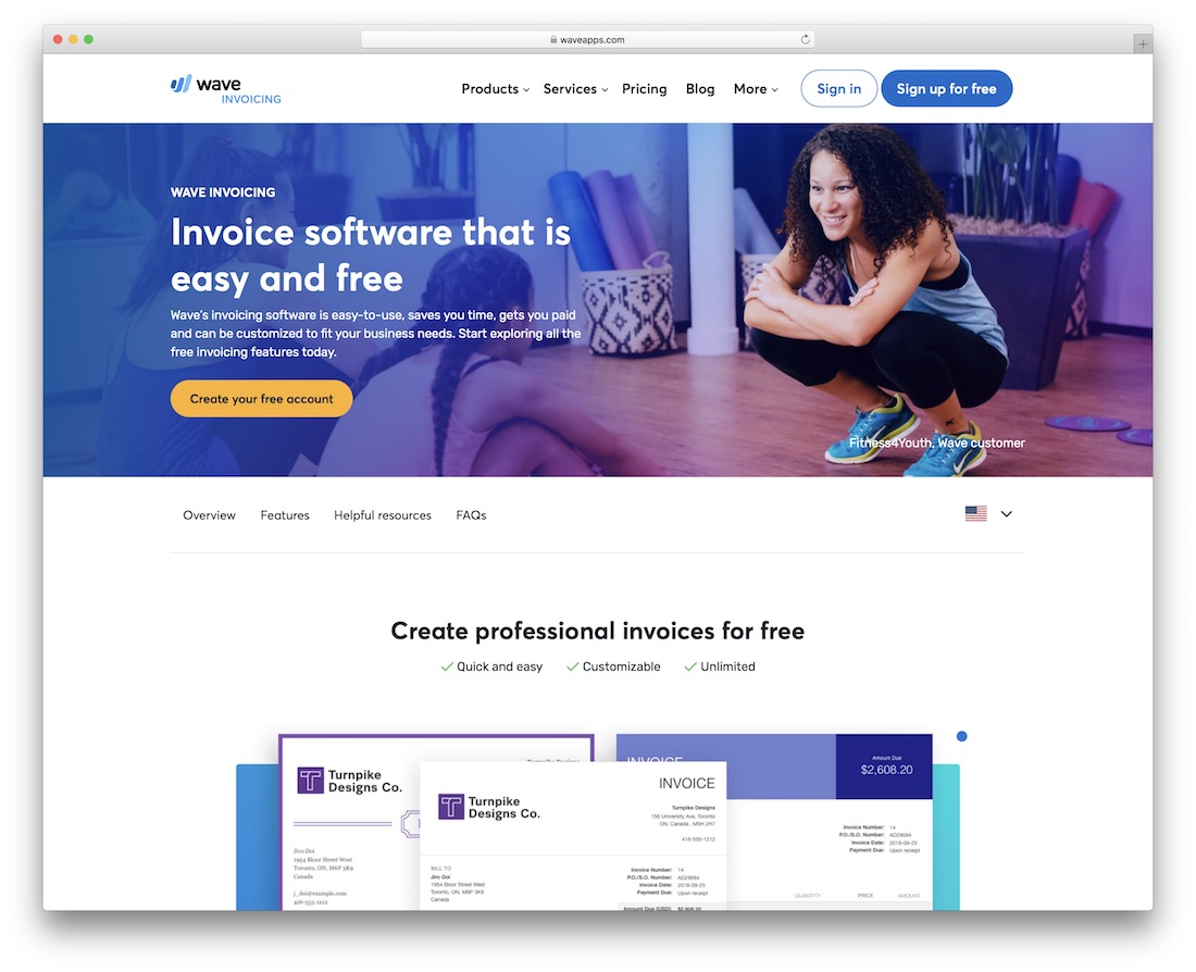 wave free invoicing tool