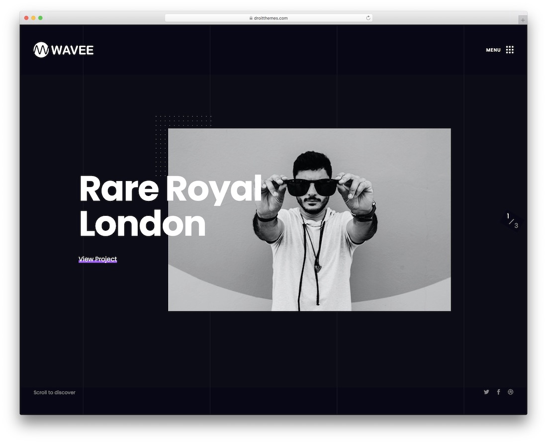 wavee designer wordpress theme