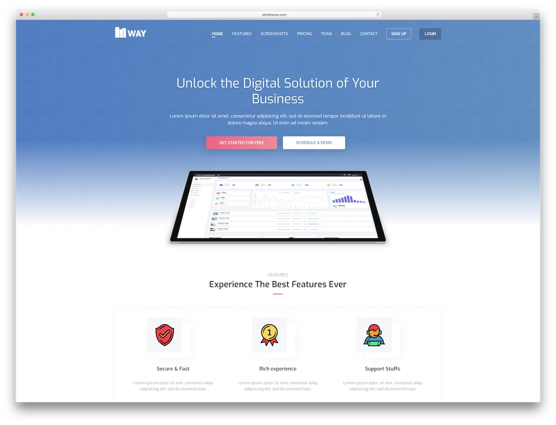 way software company website template
