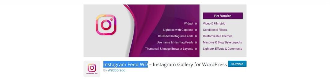 wd instagram feed plugin free