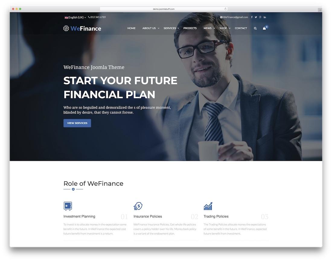 we finance joomla business template