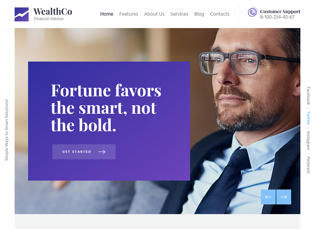 WealthCo - A Business & Financial Consulting WordPress Theme