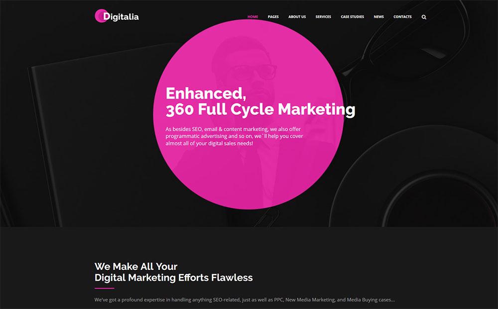 Marketing Company WordPress Theme