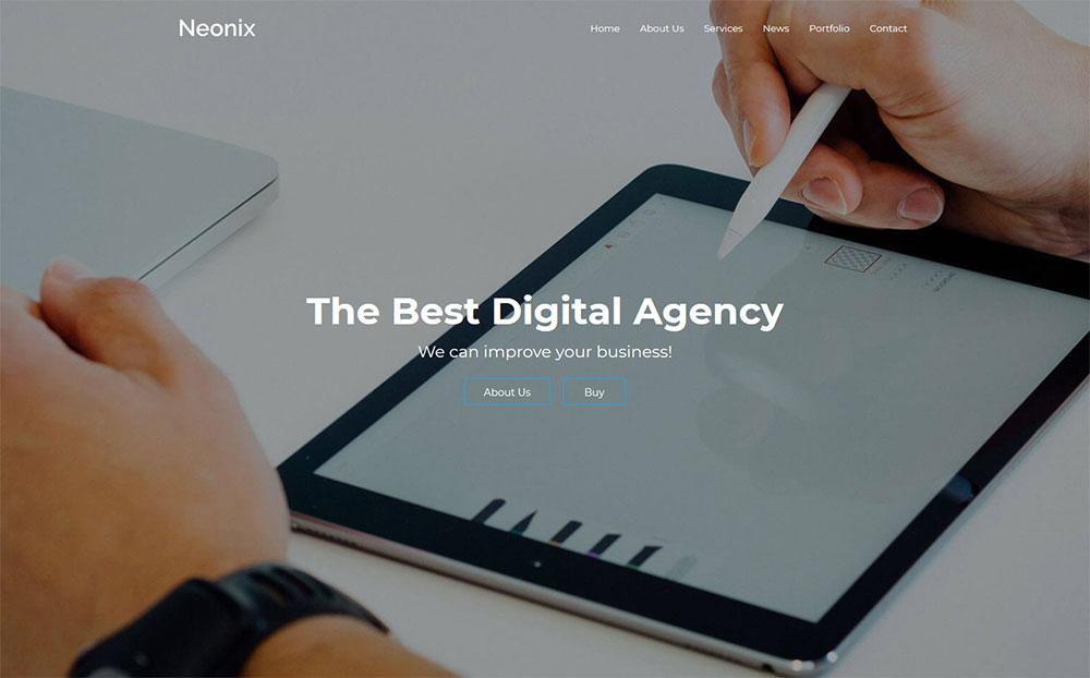 Neonix - Digital Agency WordPress Theme