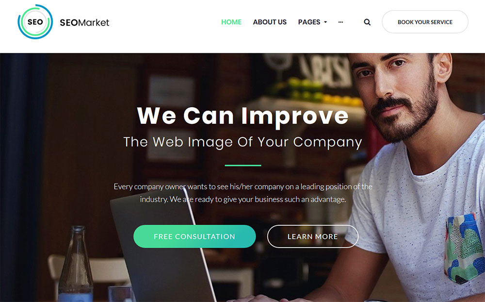 SEOMarket - SEO Website WordPress Theme